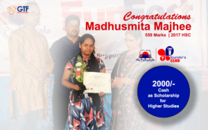 Madhusmita Majhee -Padagaon Scholarship from Mo Pathashala Founder's Club