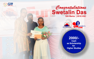 Swetalin Dash - From Kumarpur Getting Scholarship from Mo Pathashala Founder's Club
